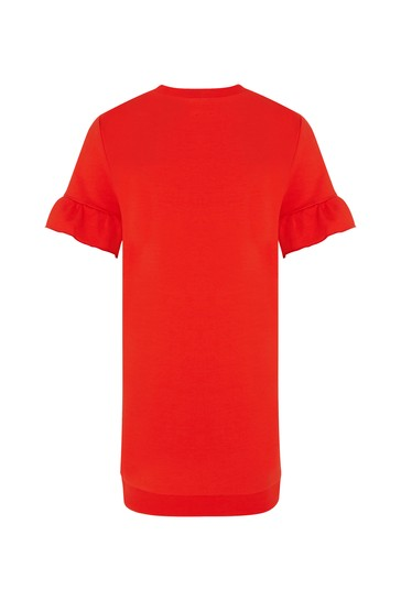 Carrement Beau Girls Red Cotton Dress