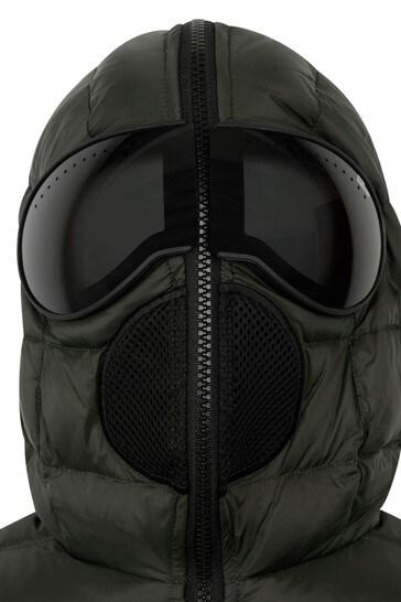Boys Khaki Down Padded Jacket With Lenses