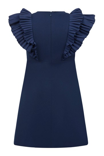 Girls Blue Viscose Dress