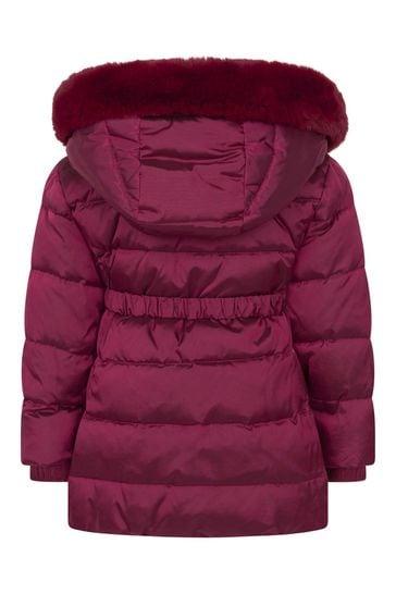 Baby Girls Red Down Padded Coat