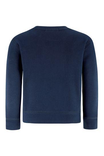 보이즈 네이비 코튼 플리스 스웨터