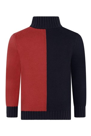 Boys Navy/Red Polo Zip Up Top