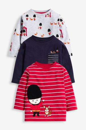 Red/Grey 3 Pack Beefeater Jersey T-Shirts (3mths-7yrs)