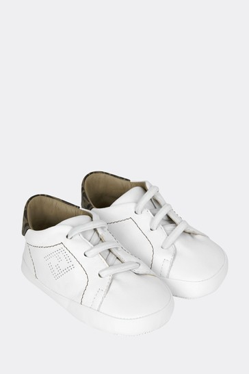 Baby White Leather Trainers