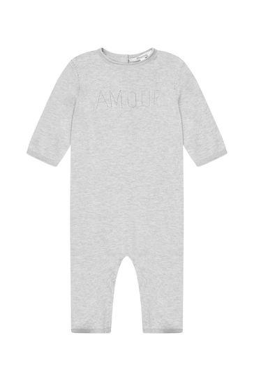 Baby Grey Cotton Romper