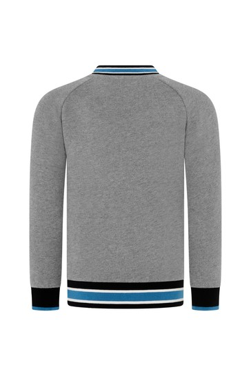 Baby Boys Grey Cotton Sweatshirt