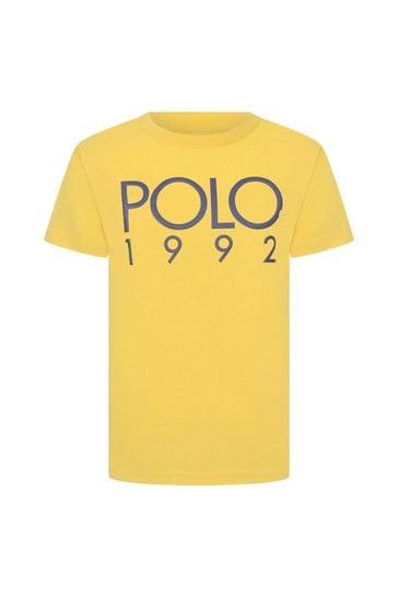 Ralph Lauren Boys Yellow Cotton Jersey Polo T-Shirt