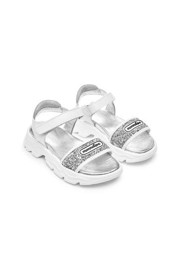 Girls Silver Sandals