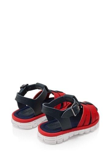 Boys Blue Leather Sandals