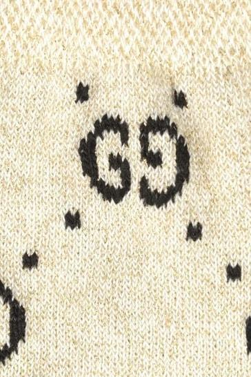 Ivory Glittery GG Socks