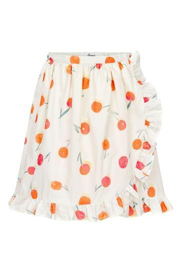 Girls Cream Cotton Skirt
