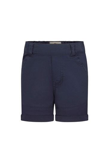 Baby Navy Cotton Shorts