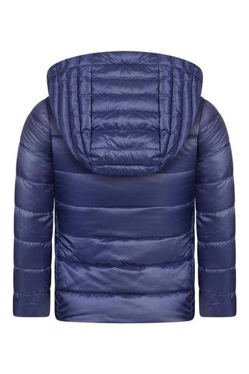 Girls Blue Down Padded Kolia Jacket