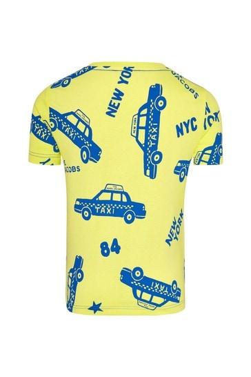Marc Jacobs Boys Yellow Cotton T-Shirt