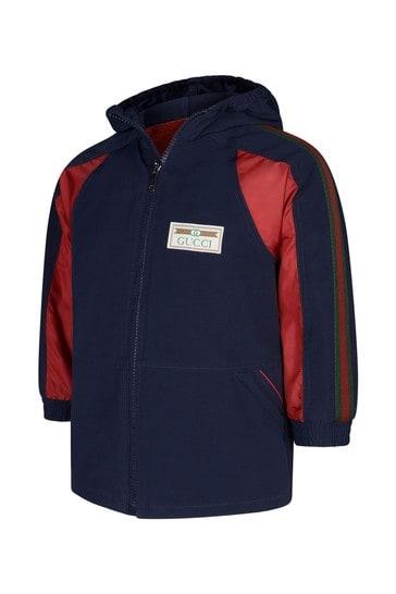 Baby Boys Navy Nylon Cotton Jacket