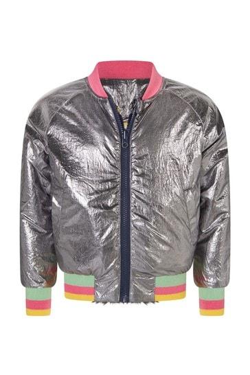 Girls Navy Reversible Jacket