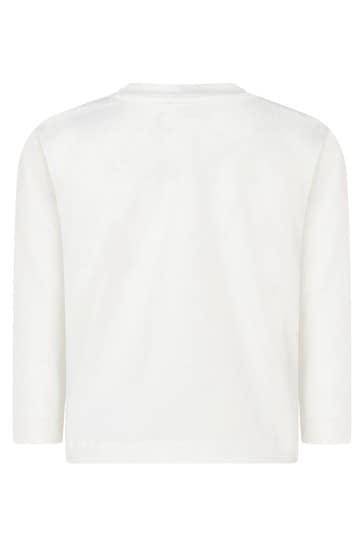 Girls Ivory Cotton Jersey Mickey & Minnie™ Top