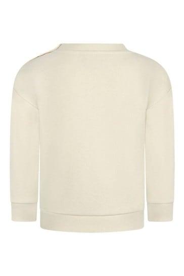 Baby Boys Ivory Cotton Tennis Sweater