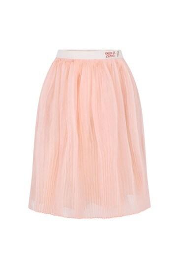 Baby Girls Pink Organza Silk Skirt