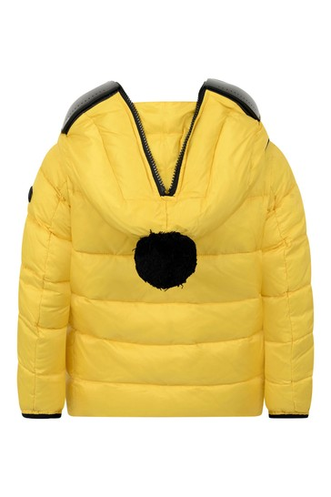 Boys Yellow Down Padded Jacket With Lenses