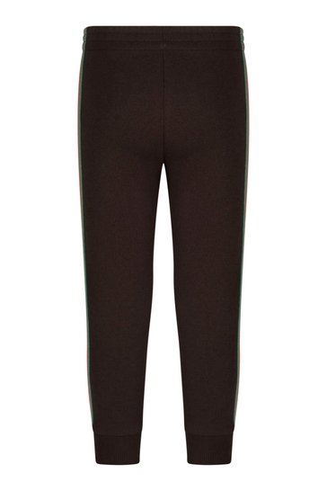 Girls Brown Cotton Joggers