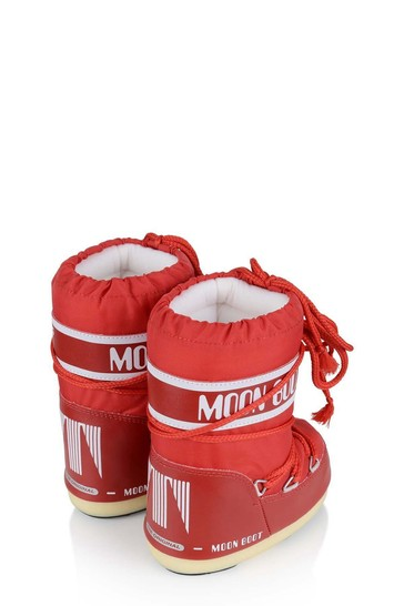 Kids Red Nylon Snow Boots