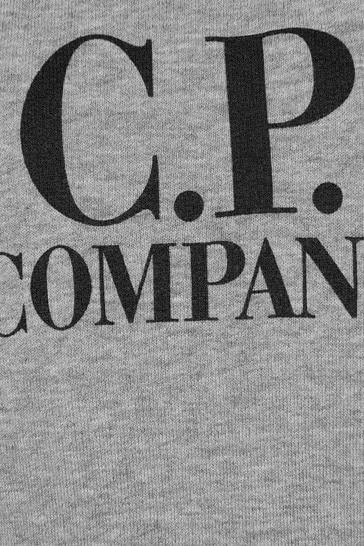 C.P. Company Boys Grey Cotton Sweater
