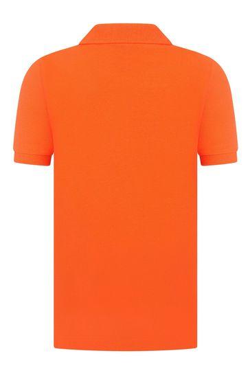 보이즈 오렌지 피케 폴로 셔츠