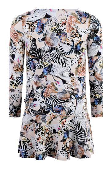 Girls Pink Animal Organic Cotton Dress