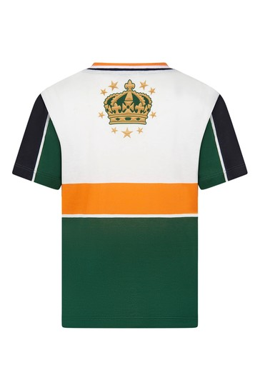 Boys Green Cotton Team T-Shirt