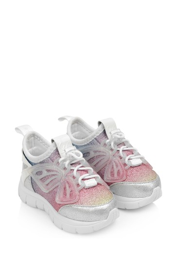 Girls Silver & Pastel Fly-By Trainers