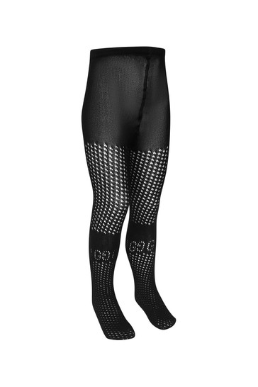 Girls Black Cotton Tights