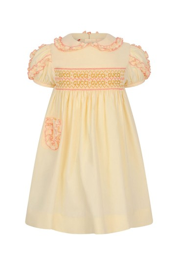 Baby Girls White Popeline Dress