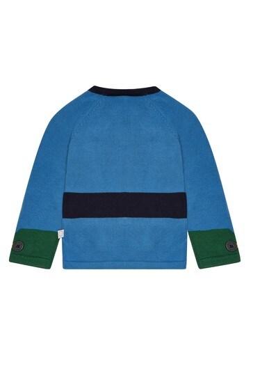 Baby Boys Blue Cotton Jumper