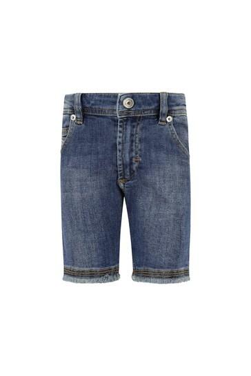 Baby Boys Blue Cotton Shorts