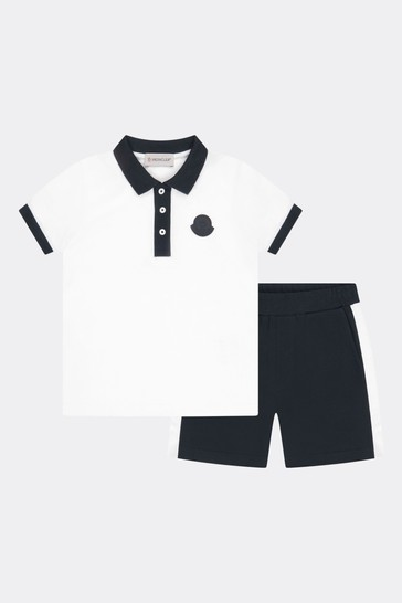 Cotton Polo Shirt And Shorts Set