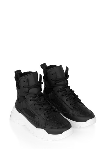 Boys Black High Top Trainers