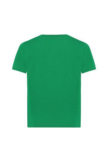 베이비 보이즈 그린 코튼 티셔츠