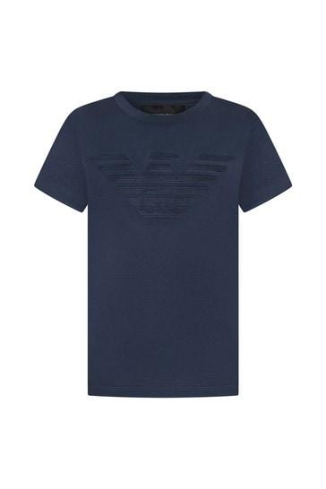 Emporio Armani Boys Blue T-Shirt