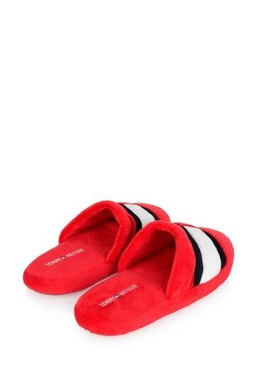 Kids Red Logo Flag Slippers