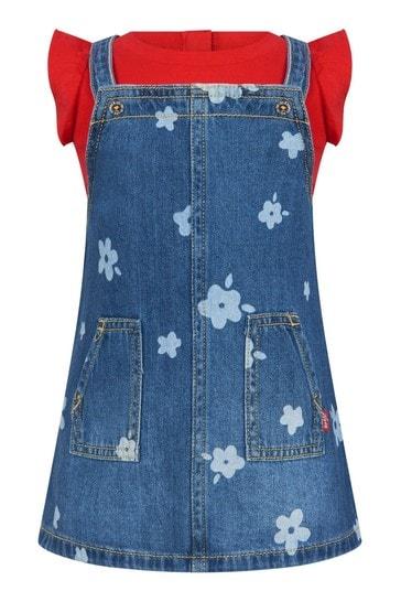 Baby Girls Blue Cotton Set