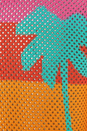 Girls Multicoloured Cotton Jumper