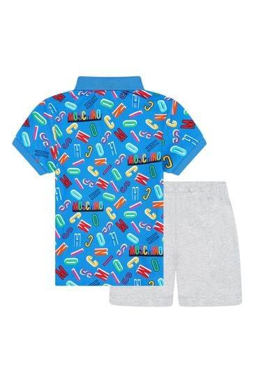 Boys Blue Cotton Outfit
