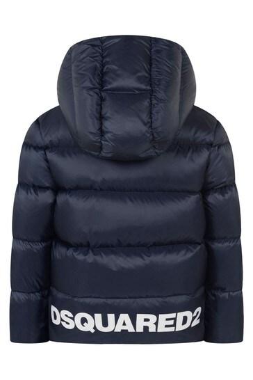 Kids Blue Padded Jacket