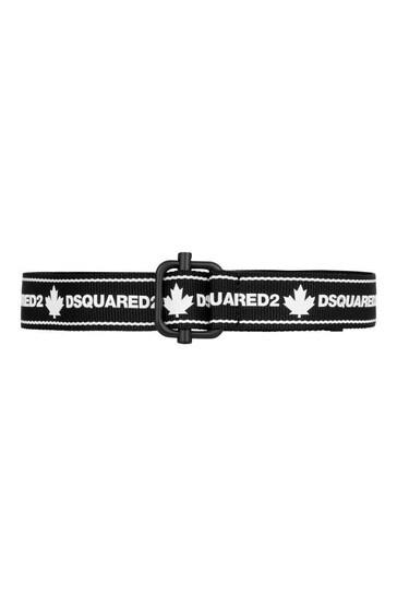 Kids Black/White Logo Belt