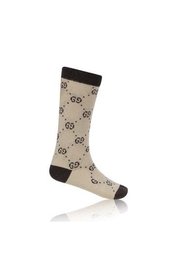 Beige GG Cotton Socks