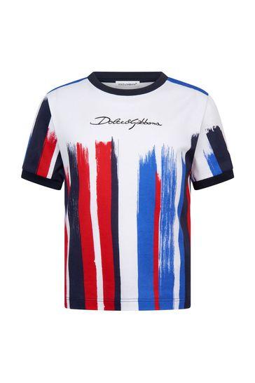 Dolce & Gabbana Boys Navy Cotton T-Shirt