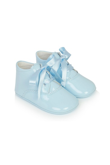 Baby Blue Leather Shoes