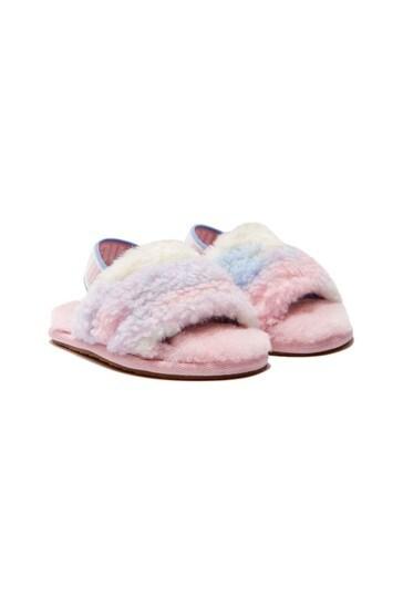 Girls Pink Fluff Yeah Sandals