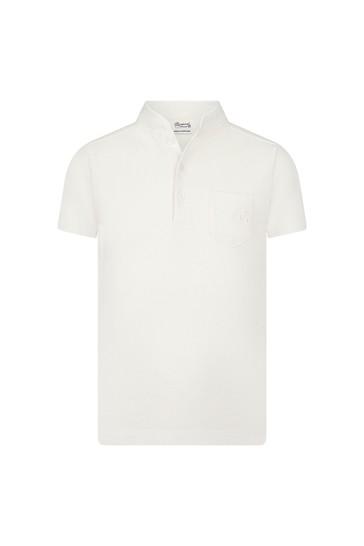 Boys Cream Cotton Poloshirt